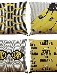 Set of 4 New Trend Pattern  Linen Pillowcase Sofa Home Decor Cushion Cover
