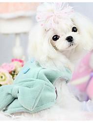 Недорогие -Собака Свитера Одежда для собак Мультипликация Зеленый Розовый Шелковая ткань Хлопок Костюм Назначение Зима Муж. Жен. На каждый день Мода