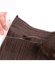 cheap -Flip In Human Hair Extensions Straight 1pc/Pack 18 inch