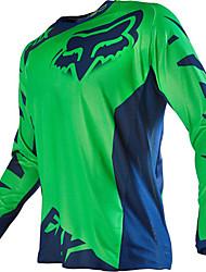 Недорогие -фокс мотоцикл внедорожная футболка с длинными рукавами езда костюм скорость от спорта на открытом воздухе повседневная одежда черный оранжевый желтый красный зеленый синий серый и различные размеры