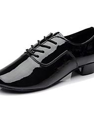 Для мужчин Латина Кожа На каблуках Концертная обувь Каблуки на заказ Золотой Белый Черный Серебряный 3,5 см Персонализируемая