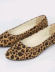 Feminino-Mocassins e Slip-Ons-Solados com Luzes Sapatos clube-Rasteiro--Flanelado-Ar-Livre Escritório & Trabalho Casual