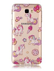 cheap -For Samsung Galaxy TPU Material IMD Process Unicorn Pattern Phone Case J7 Prime J3 Prime J710 J7 J510 J5 J310 J3