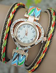 cheap -Women's Fashion Watch Bracelet Watch Quartz Leather Band Heart shape Black White Blue Red Navy