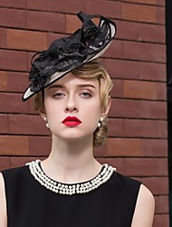 cheap -Flax / Lace Hats with Flower 1pc Wedding / Special Occasion / Casual Headpiece