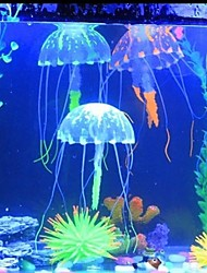 6 colors Glowing Effect Fish Tank Decor Aquarium Artificial Silicone Vivid Jellyfish Random Color
