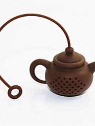 1pcs alta qualidade novo criativo chá de chá de silicone chá pot forma chá filtro infusores seguro limpo cor aleatória