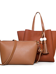 preiswerte -Damen Taschen PU Bag Set 2 Stück Geldbörse Set für Normal Ganzjährig Blau Schwarz Rote Grau Braun