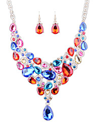 cheap -Women's Rhinestone Others Jewelry Set Earrings / Necklace - Euramerican / Fashion Rainbow / Red / Blue Jewelry Set For Wedding / Party /
