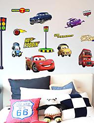 baratos -Moda Transporte Desenho Animado Adesivos de Parede Autocolantes de Aviões para Parede Autocolantes de Parede Decorativos, Papel Decoração