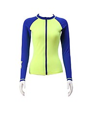 cheap -Women's Wetsuit Top Quick Dry Anatomic Design Breathable Elastane Terylene Diving Suit Long Sleeves Top-Diving Spring Summer Fashion