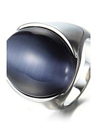 Men's Statement Rings Ring Acrylic Fashion Punk Personalized Hip-Hop Rock Euramerican Costume Jewelry Titanium Steel Oval Geometric