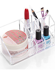 cheap -Quadrate Makeup Storage Stand Brush Pot Holder Cosmetic Organizer for Lipstick Nail Polish