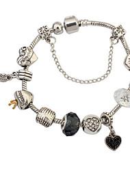 Homme Femme Charmes pour Bracelets Bracelets Rigides Imitation de diamant Amitié Bricolage Turc Gothique Mode Vintage Bohême Style Punk