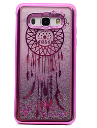 cheap -For Samsung Galaxy J5 (2016) J3 J3 (2016) Case Cover Plating Flowing Liquid Pattern Back Cover Case Dream Catcher Glitter Shine Soft TPU