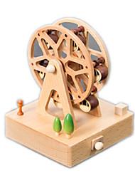 cheap -Music Box Wood Square Ferris Wheel Gift Unisex Gift