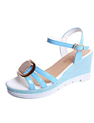 cheap -Women's Sandals Spring Summer Club Shoes Comfort Flange All Match Fashion Dress Casual Wedge Heel Buckle