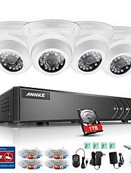 ANNKE® 8CH 4PCS 960P HD DVR TVI KIT 5 in 1 Monitor IR CUT Waterproof Security System 1TB with Remote Eye Spy