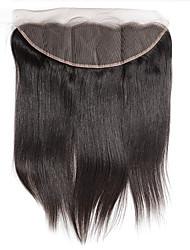 abordables -cierre frontal del cordón de 10 pulgadas recta braizlian mejores cierres brasileñas virginales del pelo humano de cierre libre / medio /