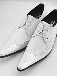 Masculino sapatos Couro Ecológico Verão Conforto Mocassins e Slip-Ons Para Casual Branco Preto Vinho