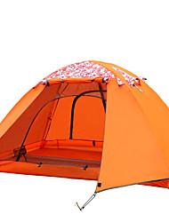 economico -2 persone Tenda Doppio Tenda da campeggio Una camera Tenda ripiegabile Ompermeabile Antivento Resistente ai raggi UV Ripiegabile