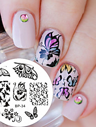 Romantic Butterfly Patterns Nail Art Stamp Template Image Plate Nail Stamping Plate BORN PRETTY BP34