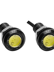 2pcs 23MM White Color Eagle Eye Light Car Fog DRL Daytime Reverse Backup Parking Signal Light Lamp Hot Selling DC12V