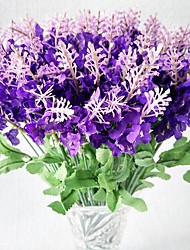 cheap -10 Branch Polyester Lavender Artificial Flowers