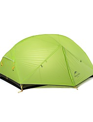 cheap -Naturehike 2 persons Tent Double Camping Tent One Room Backpacking Tents Portable Windproof Rain-Proof for Camping Traveling >3000mm