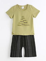 billige -Drenge Ensfarvet Kortærmet Tøjsæt