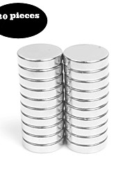 cheap -20pcs12X3 Brushed Nickel Magnetic Push Pins Bonus Magnet - Fridge Magnets Office Magnets Dry Erase Board Magnets Refrigerator Magnets Whiteboard