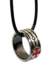 cheap -Inspired by Templar Order Anime/ Video Games Cosplay Accessories Ring Necklace Silver Alloy I.D 19MM