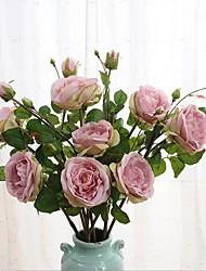 Недорогие -1 Филиал Шелк Розы Искусственные Цветы