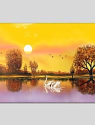 Dipinta a mano Paesaggi Composizione orizzontale Panoramica,Modern Classico Un Pannello Tela Hang-Dipinto ad olio For Decorazioni per la