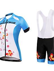 economico -Malciklo Maglia con salopette corta da ciclismo Per donna Manica corta Bicicletta Calzamaglia/Salopette/Corsari Maglietta/Maglia Set di