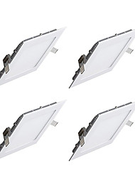 cheap -9W 850lm 45 LEDs Easy Install Recessed LED Panel Lights Warm White Cold White AC 85-265V