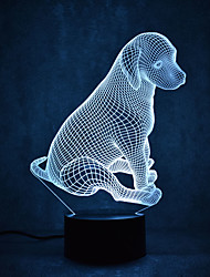 Dog Turtles Touch Dimming 3D LED Night Light 7Colorful Decoration Atmosphere Lamp Novelty Lighting Light