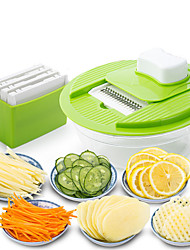 cheap -Mandoline Vegetable Slicer Dicer Fruit Cutter Slicer With 4 Interchangeable Stainless Steel Blades Potato Slicer Tools