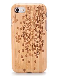 Per Custodie cover Decorazioni in rilievo Fantasia/disegno Custodia posteriore Custodia Simil-legno Albero Resistente Legno per Apple
