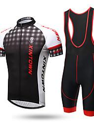 cheap -XINTOWN Cycling Jersey with Bib Shorts Men's Short Sleeves Bike Bib Tights Jersey Top Bike Wear Quick Dry Ultraviolet Resistant Moisture