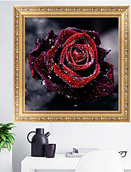 cheap -Diamond Embroidery 5D Flower Diamond Cross Stitch Crystal Sets Unfinished Decorative DIY Diamond Painting Rose 30Cm*30Cm