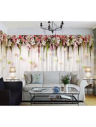 abordables -Floral 3D Fondo de pantalla Para el hogar Contemporáneo Revestimiento de pared , Lienzo Material adhesiva requerida Mural , Revestimiento