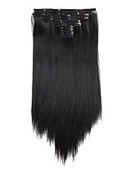 Недорогие -На клипсе синтетический Наращивание волос 180 Наращивание волос