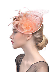 cheap -Women's Hat Solid Color Mesh Elegant Fashion Acrylic Hair Clip