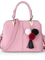 economico -Donna Sacchetti PU (Poliuretano) Tote Perle di imitazione per Per tutte le stagioni Blu Nero Rosa Grigio