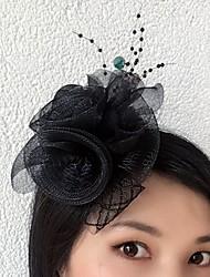 economico -fascinator fiori tulle rete copricapo classico stile femminile