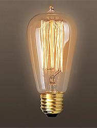 economico -Ac110 / 220v 60w st64 retrò edison tirare punta acqua creativa personalità tungsteno filamento lampadina 1pcs