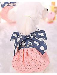 economico -Cane Vestiti Abbigliamento per cani Traspirante Casual Di tendenza Da principessa Blu scuro Blu Costume Per animali domestici