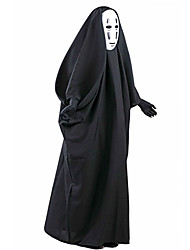 abordables -Ange et Diable Costume de Cosplay Cosplay de Film Noir Manteau Masque Halloween Nouvel an PVC Coton