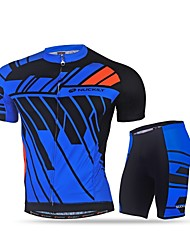 cheap -Nuckily Men's Cycling Jersey with Shorts - Black Blue Bike Clothing Suits, Quick Dry, Ultraviolet Resistant, Reflective Strips